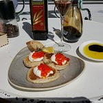 Pancakes (blini style) with sourcream and caviar
