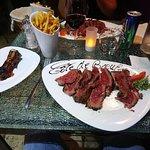 Côte de bœuf accompagné de frites