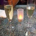 Coupe de champagne offerte pour notre anniversaire