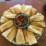 Special order tamales!  Chicken salsa verde and veggie poblano. Incredible!