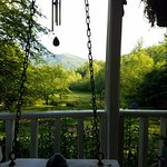 This was actually the view out or bedroom as well as the porch swing (so comfortable)