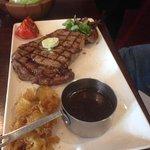 Rib eye Steak lunch