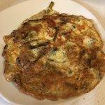 Tortilla asperges, champignons et fromage