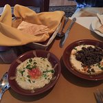 Baba Ganoush and Hummus with Beef.