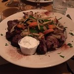 Mixed Grill Kabobs with 3 choices of Chicken, Beef, and Lamb.