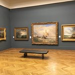 Gallery with Turner painting