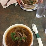 Thai soup with beef