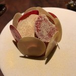 Blood orange sorbet was spectacular and delicieuse