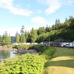 Our favourite location as the sites facing the water on the lower RV Park
