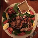 Spinach Salad with added chicken