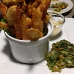 Fried vegetables with yummy dipping sauce
