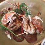 Crispy soft-shell crab w hot & sour tamarind & fresh dill