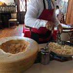 Excelente massa feita no queijo grana padano!!!