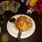 Chicken with waffle