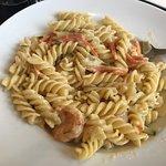 fusilli with spiced prawn
