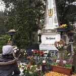 Another angle of Beethoven's Grave