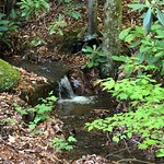 Waterfall & stream along the road/camp sites