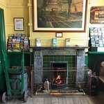 Ticket office, with a nice fire going