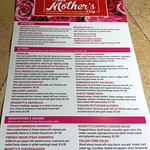 Mother's Day menu at Moretti's