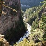 De canyon na Spahat Falls