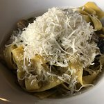 Fresh pasta with a mound of cheese!