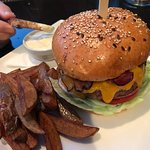 Farmer's Burger and fries
