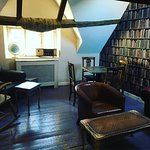 If you keep heading upwards you'll be rewarded with a cosy spot in our library