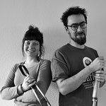 Jean Thebault and Lou-Alexandrine Le Jolivet, the glass studio.