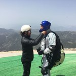 Getting ready with responsible instructor Ali for Paragliding from Tahtali (2365) m with Escape2