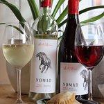 Nomad wine and brazilian shrimp pastries