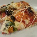 slice of Vegetariana pizze (sp)