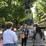 Our knowledgeable tour guide shares stories from Stuttgart's hidden past