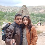 Moment in tour of Selime Monastery