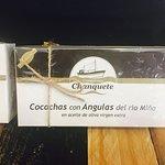 Cocochas con angulas del rio Miño.