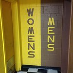 Toilets unambiguously labeled in WMU colors. Even the drunkest person won't be confused!