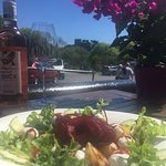 Summer Salad with a view of Criccieth Castle!