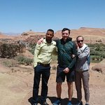 Our driver Mohammed with our client in Ouarzazate , kasbah ait ben haddou
