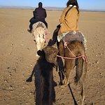 Our travel agent on 2 days tour to Zagora, riding camel