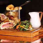 Try a Yorkshire pudding wrap: available with beef and horseradish cream, or pork with apple sauc