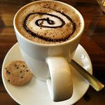 Cappuccino presented decadently