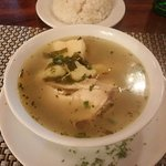 Traditional soncocho chicken soup