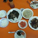 SHORTRIB PIPIKAULA LAULAU PLATE Short Rib Pipikaula Laulau Chicken Long Rice Lomi Salmon Haupia