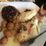 Delicious hogfish in lemon butter sauce - yummy