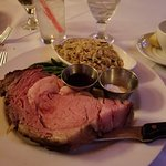 Prime Rib with side of rice pilaf