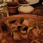 Seafood Paella with rice on the side