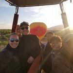 A sunrise balloon ride in Albuquerque, New Mexico