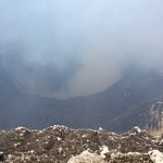 Inside volcano