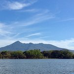 Volcano from lake Nicaragua