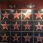 """The """"Wok of Fame"""" lists names of local and national celebrities who come here often"""