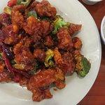 General Tso's Chicken...tasty and plentiful